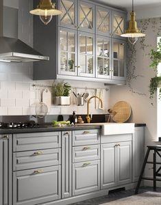 - Home Fashion Trend Kitchen Room Design, Modern Kitchen Design, Home Decor Kitchen, Interior Design Kitchen, Home Kitchens, Ikea Interior, Classical Kitchen, Affordable Kitchen Cabinets, Kitchen Cabinet Styles