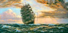 The Golden West - The Pamir by Montague Dawson
