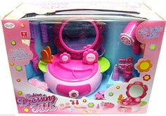 Girls Dressing Table with Mirror Girls Make Up Table Play Vanity Set with Light
