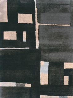 BLOCKS BLUE GREY // Fort Street Studio // Wild Silk Carpets