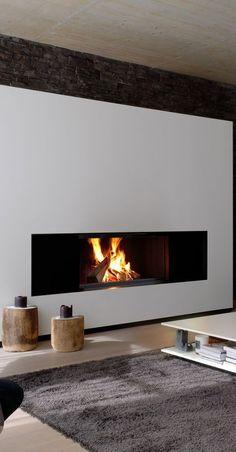 The Best 2019 Interior Design Trends - Interior Design Ideas Home Fireplace, Modern Fireplace, Living Room With Fireplace, Fireplace Design, Fireplaces, Room Interior Design, Interior Decorating, Inside A House, Modern Contemporary Homes