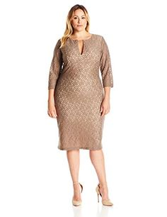 Single Dress Womens Plus Size Lace Meg TruffleNude Long Sleeve 1X >>> Want to know more, click on the image.