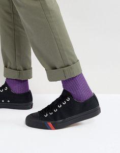 ea72fea28340 Pro Keds Royal Low Triple Black Canvas Sneakers - Black Keds Men