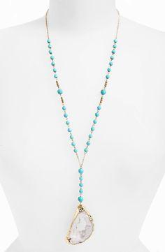 Panacea Beaded Y Pendant Necklace