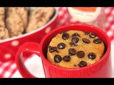 Mug Cake de Chips Ahoy   Cookie   1 Minuto en el Microondas! - YouTube