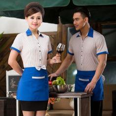 Staff Uniforms, Uniform Shirts, Work Uniforms, Waiter Uniform, Hotel Uniform, Restaurant Uniforms, Korea Design, Cooling Scarf, Wing Collar