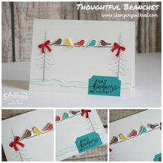 Stampin' Up! Thoughtful Branches Valerie Moody UK Stampin' Up! Christmas Cards To Make, Xmas Cards, Holiday Cards, Greeting Cards, Fall Cards, Holiday Ideas, Stampinup, Stampin Up Catalog, Stamping Up Cards