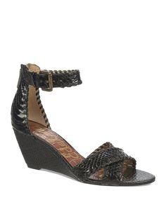 Sam Edelman Open Toe Wedge Sandals - Silvia