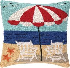 Beach Getaway Hook Pillow