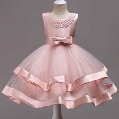 Buy Beads Bowknot Decorated Tulle Patchwork Princess Dress online with cheap prices and discover fas Flower Girls, Tulle Flower Girl, Flower Girl Dresses, Toddler Princess Dress, Toddler Dress, Baby Dress, Toddler Girls, Baby Kids, Princess Dresses For Toddlers