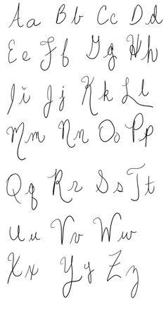 Handwriting Sample - Quick by crafty-manx on DeviantArt Different Handwriting Styles, Fancy Handwriting, Handwriting Examples, Types Of Handwriting, Handwriting Alphabet, Different Alphabets, Font Alphabet, Different Fonts, Calligraphy Alphabet