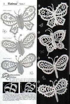 Letras e Artes da Lalá: crochê irlandês... Beautiful butterflies!!