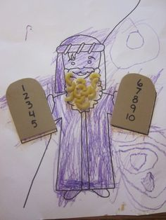 Moses with 10 Commandments Craft