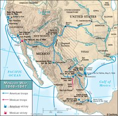 Mexico And The United States Approached The MexicanAmerican War - Us map mexican war