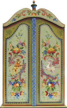 Os Rosemaling Cabinet - JP3067