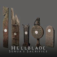 Hellblade props, Dan Attwell on ArtStation at https://www.artstation.com/artwork/zemYZ