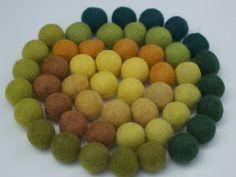 50 fieltro bolas Mix primavera: Amazon.es: Hogar