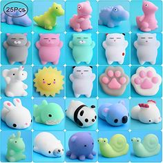 Outee Mochi Squishy Toy 25 Pcs Mochi Squishy Animals Mini Toys Stress Relief Sq - Squishies - Ideas of Squishies Outee Mochi Squishy Toy 25 Pcs Mochi Squishy Animals Mini Toys Stress Relief Sq Price : Animal Squishies, Cute Squishies, Stress Toys, Stress Relief Toys, Toys For Girls, Kids Toys, Figet Toys, Baby Toys, Cool Fidget Toys