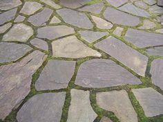 Natural Stone and moss courtyard