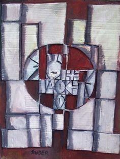 """Edwin Studer (Taller Torres García) """"Constructivo Árbol"""" Collage y óleo sobre cartón 52 X 40 cms.  http://www.portondesanpedro.com/ver-producto.php?id=9168"""