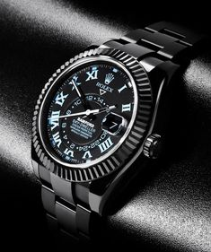 Bamford Watch Department's Limited Edition Rolex Sky-Dweller - Cool Hunting Dream Watches, Fine Watches, Luxury Watches, Rolex Watches, Amazing Watches, Beautiful Watches, Cool Watches, Watches For Men, Black Watches