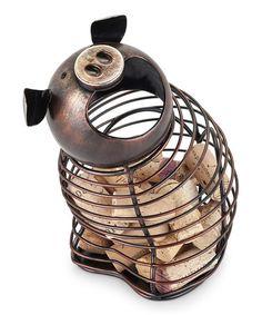 Love this Pig Cork Holder on #zulily! #zulilyfinds