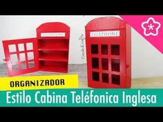 Organizador Cabina Telefonica Inglesa de Cartón DIY - DecoAndCrafts - YouTube