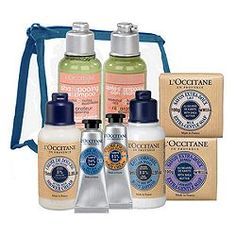love L'Occitane en Provence products - everything I need all in a convenient travel tote