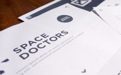 Website design for semiotics agency Space Doctors website design by Wolfcub Digital. The site includes motion graphics, HTML 5, responsive web design. Bold colour palette, typography and photography.