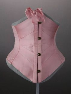 "Wedding Corset: 1901, silk satin, silk ribbon. ""Worn by Elizabeth Hooker Cheney at her wedding on September 11, 1901."""