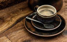 Coffee, Cup, Spoon, Saucer, Food