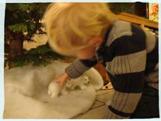 the little white polarbears, hided under the tree, have been discovered again! Little White, Christmas Home, Crafts For Kids, Crafts For Children, Kids Arts And Crafts, Kid Crafts, Craft Kids