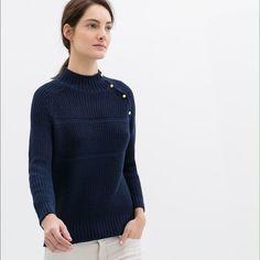 Zara Knit Sweater Top sz S Navy Blue Zara navy blue knit sweater top. NWT Zara Tops