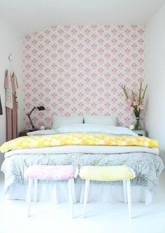 Pink pastel bedroom so cute!