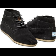 TOMS Tribal Booties in Black Suede Cozy booties from Toms. I wore these one time and didn't like how they looked on me. In excellent condition. TOMS Shoes Ankle Boots & Booties