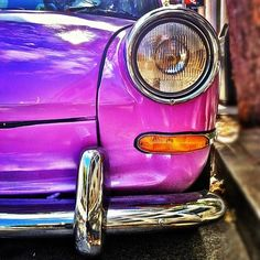 old school purple vw beetle - Mad Love and Respect <3ummmm...that's not a beetle!! IT'S A GHIA!