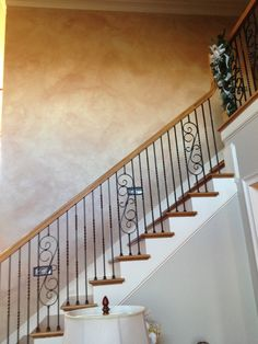 Stone-like Sherwin Williams Venetian Plaster with glaze gives an old world European flair to a new home. http://www.houzz.com/pro/creativepaintinganddesign