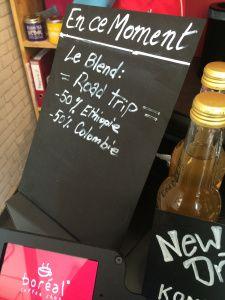 Signboard, Cafe Boreal, Geneva, Switzerland