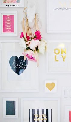 framed kate spade letter head #ClippedOnIssuu from Adore Home Jun/Jul 2014
