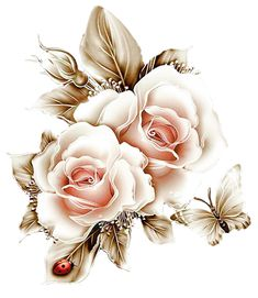 roses,pink,roze,rosa,fleur - Tattoo Thinks Decoupage Vintage, Beautiful Flowers Wallpapers, Beautiful Roses, Art Floral, Flower Images, Flower Art, Watercolor Flowers, Watercolor Art, Decoupage Printables
