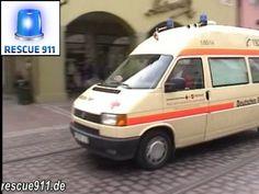 3x KTW DRK/Malteser + Polizei + LF 16/12 BF Freiburg (Zusammenschnitt)