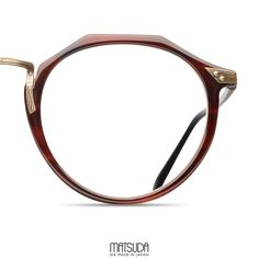 The Matsuda | M2028 is a flat topped pantos made of hand finished Japanese acetate featuring hardware originally developed over 25 years ago for the first collection.