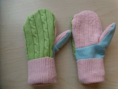 Rethink Crafts: Recycled Sweater Mittens