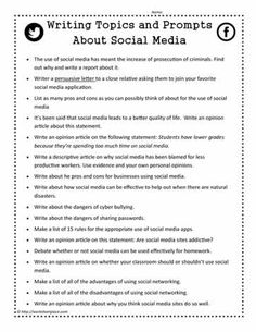 Writing Prompts for Social Media