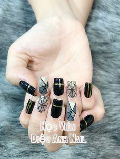 Luv Nails, Aycrlic Nails, Bling Nails, Nail Manicure, Swag Nails, Glitter Nails, Cute Nail Art, Cute Acrylic Nails, Line Nail Designs