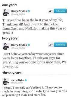 3 Years of One Direction