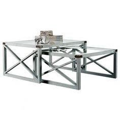 2-Piece Moby Metal Nesting Table Set