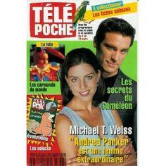 """Michael T. Weiss (Les secrets du caméléon) : """"Andrea Parker est une femme extraordinaire"""", dans Télé Poche n°1777 du 28/02/2000 [couverture isolée et article mis en vente par Presse-Mémoire]"""