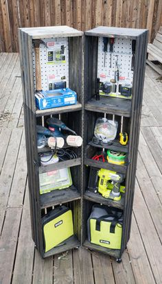 Crate Storage Locker - DIY Plans and Tutorial Included!  from Ryobi Nation