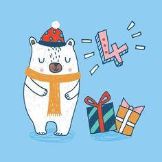 Day 4 - Advent 2016 - Lisa Barlow (Milk & Honey Studio) Countdown Calendar, Advent Calendar, Christmas Illustration, Milk And Honey, Christmas Design, Tis The Season, Insta Art, Lions, Christmas Time